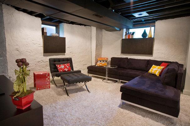 Modern Basement by Ryan Duebber Architect, LLC