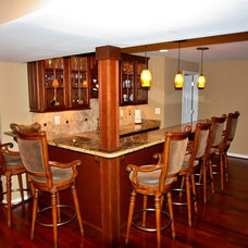 Traditional Basement by Waterstone Kitchen and Bath