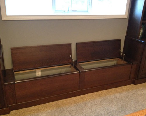 Built In Storage Bench Houzz