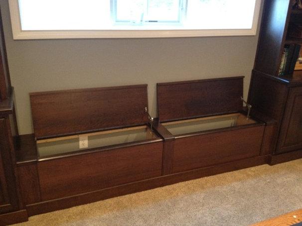 Traditional Basement by Kline Cabinetmakers, LLC