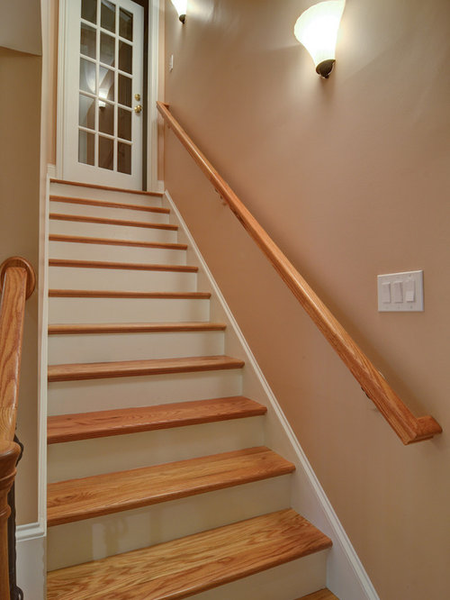 stair tread basement design ideas renovations photos