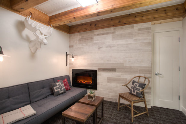 Rustic Basement by integrated Design ideas