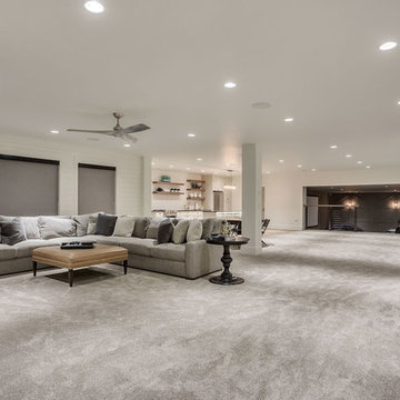 E Builders - The Snow Crest Estate - Basement Family Room