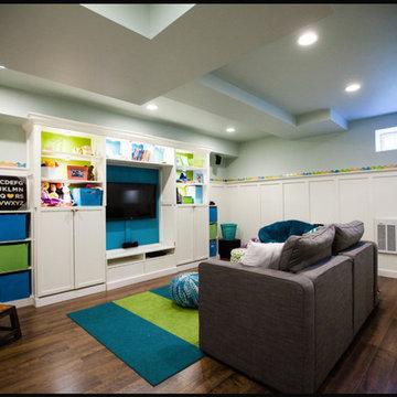 E-designed Finished Basement for Sweet Family