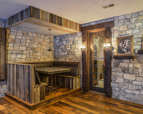 Rustic basement design ideas pictures remodel decor for Rustic finished basement