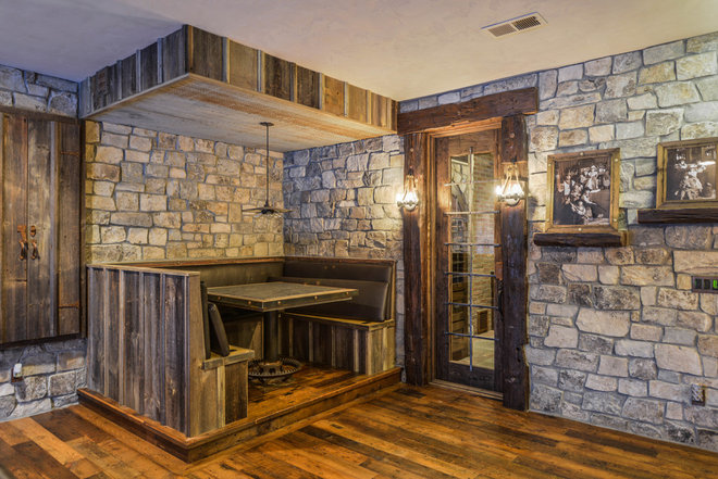 Rustic Basement by Werschay Homes
