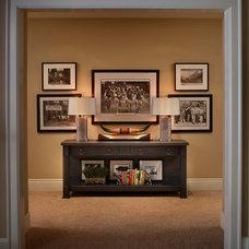 Traditional Basement by Barnard  & Speziale   The Interior Design Company
