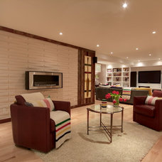 Eclectic Basement by Avalon Interiors