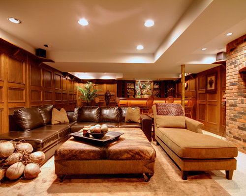 Ottoman decor home design ideas pictures remodel and decor for Basement couch ideas