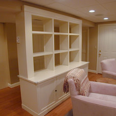 Traditional Basement by Dedham Cabinet Shop, Inc.