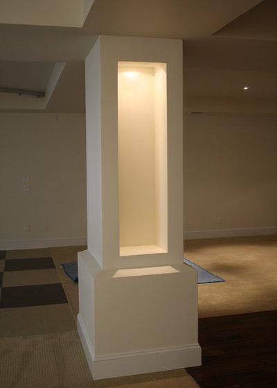Contemporary Basement by Via Builders, Inc.