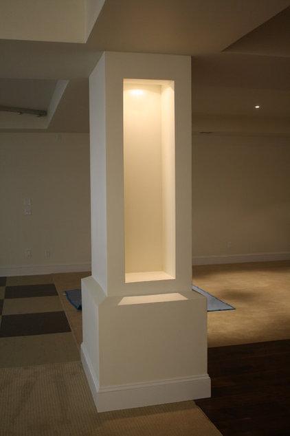 Contemporary Basement by Via Builders Inc