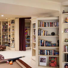 Traditional Basement by Teri Interiors
