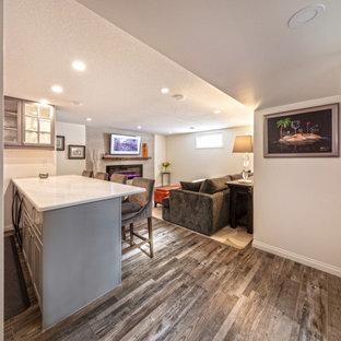 basement bar white walls