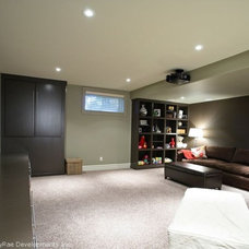 Contemporary Basement by CVK.
