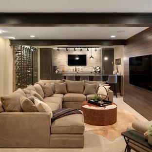 Basement - eclectic basement idea in Minneapolis