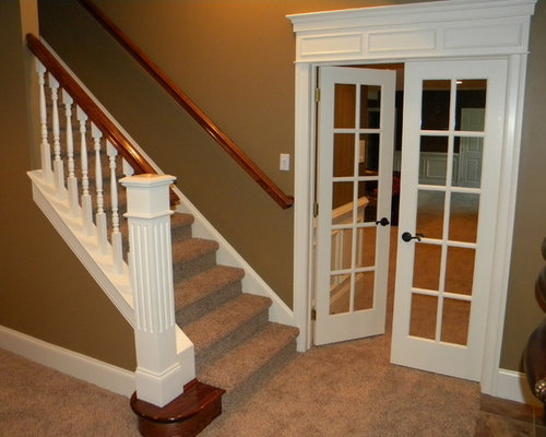 basement stair landing home design ideas pictures remodel and decor