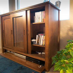 Enderby Cottage Custom TV LIFT CABINET in solid Maple