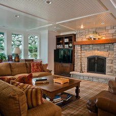 Traditional Basement by Orren Pickell Building Group