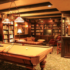 Traditional Basement by Pilgrims Custom Cabinets & Construction