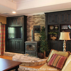 Traditional Basement by Maple Ridge Cabinetry