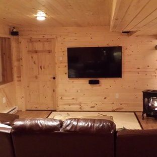 This is an example of a country basement in Other.