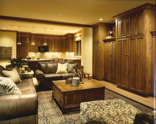 Eclectic Basement by DMH DESIGN