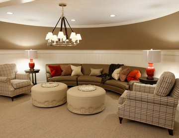 Equestrian-Themed Lower Level Recreational Room