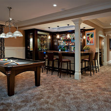 Traditional Basement by Evelyn Benatar, New York Interior Design