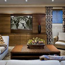 Traditional Basement by Evelyn Benatar, New York Interior Design