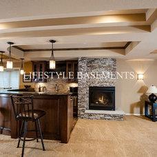 Traditional Basement by Lifestyle Basements Kitchens