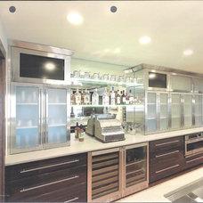 Contemporary Basement Executive Home Bar 1