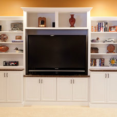 Contemporary Basement by Case Design & Remodeling Indy