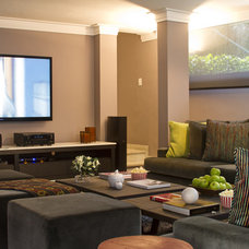 Contemporary Basement by Eunice Fernandes