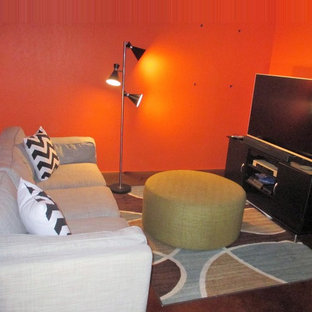 Family Room goes from hodgepodge to Mid-Century Modern vibe