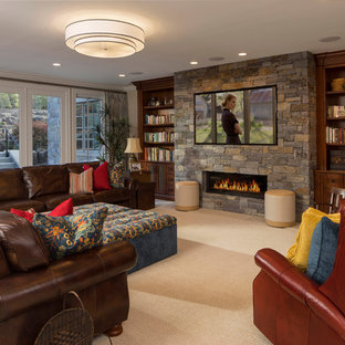 Design ideas for an arts and crafts basement in Salt Lake City.