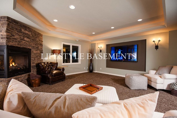 Eclectic Basement by Lifestyle Basements|Kitchens