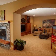 Craftsman Basement by Pillar Homes