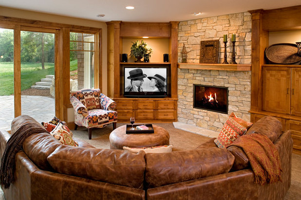 American Traditional Basement by Pillar Homes