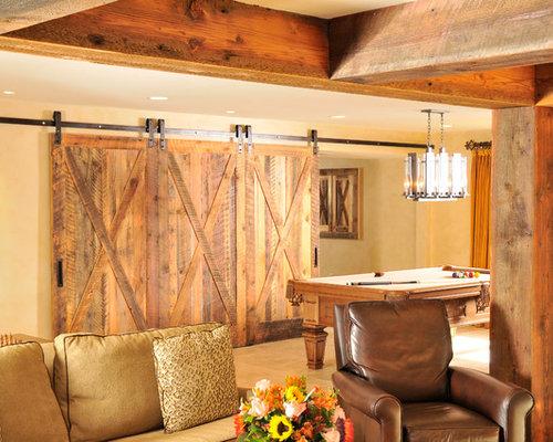 Rough sawn lumber houzz for Farmhouse basement