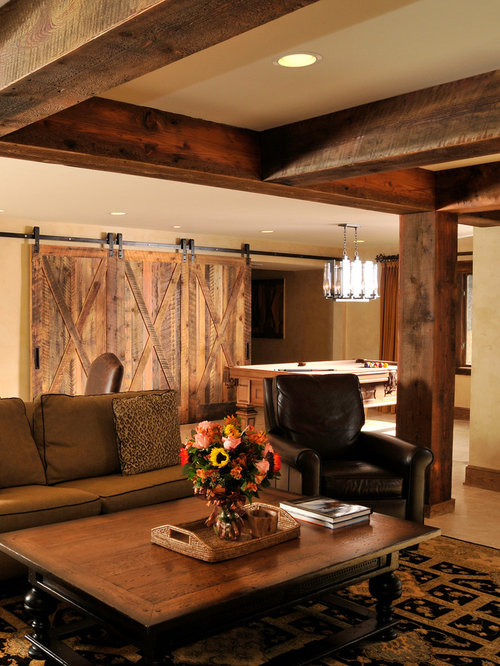Rough sawn lumber home design ideas pictures remodel and for Farmhouse basement