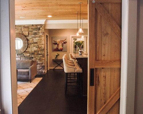 Landhausstil keller mit dunklem holzboden ideen design - Keller wandfarbe ...