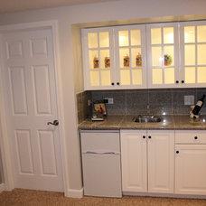 Traditional Basement by PJM Home Improvements, Inc