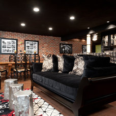 Contemporary Basement by St. Louis Homes & Lifestyles Magazine