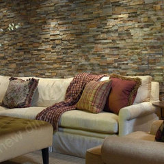 contemporary basement by NorstoneUSA