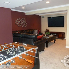 Traditional Basement by Normandy Remodeling