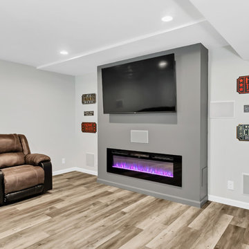 Finished Basement and New Bamboo Floors