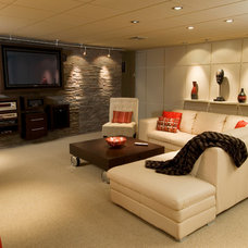 Contemporary Basement by B R A D  J E N K I N S  I N C
