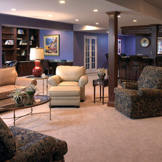 Traditional Basement by Carole Lee Interiors