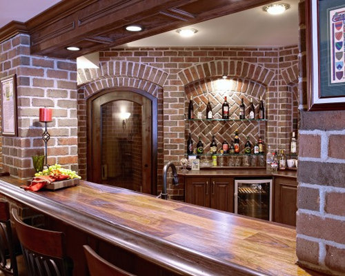 finished basement bar houzz. Black Bedroom Furniture Sets. Home Design Ideas